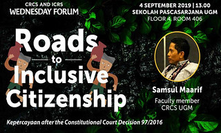 Roads to Inclusive Citizenship Kepercayaan after the Constitutional Court Decision 97/2016