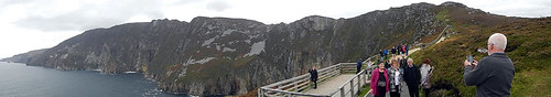 Panorama of Slieve League in Ireland
