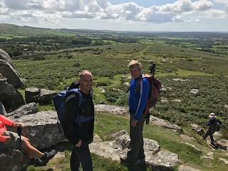 Rob and Colin at Pew Tor