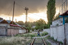 Tajik man crossing railway tracks by damonlynch