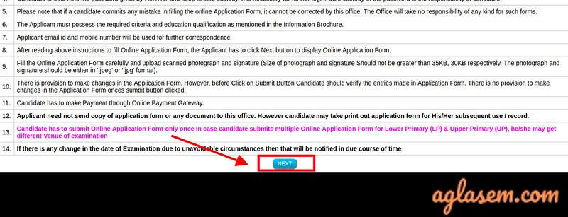 Assam TET Application: Instructions