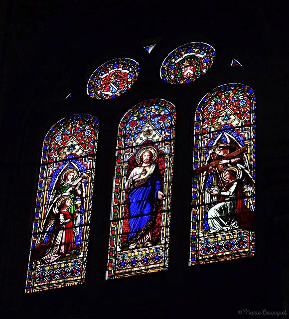 Vitrail dans l'église du Sacré-Coeur de Bordeaux