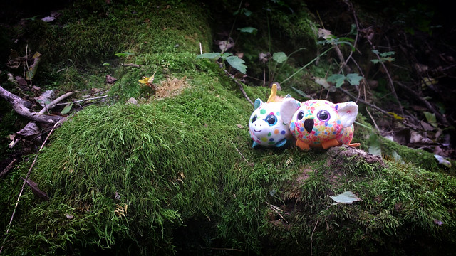 Toys in the woods
