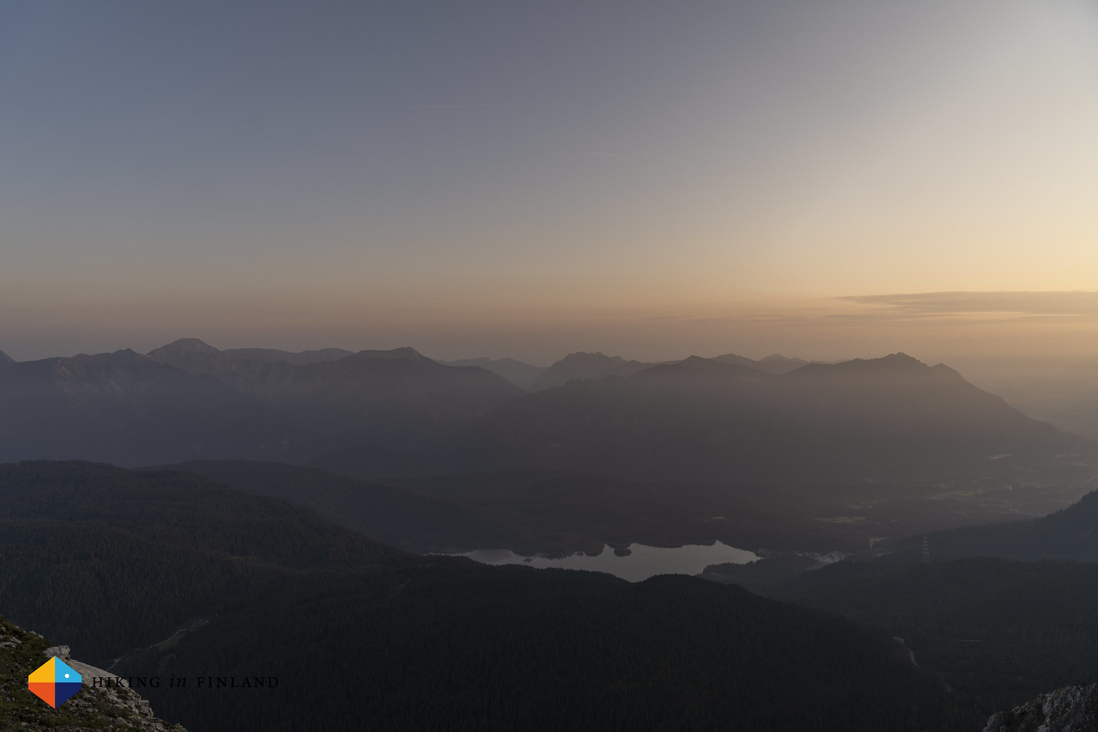 Dawn over the Eibsee