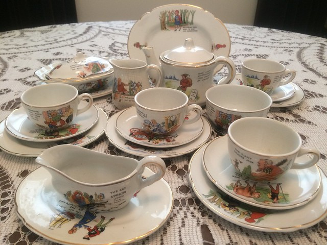 A Faerie Tale Tea Set Made by the Shell China Company, England