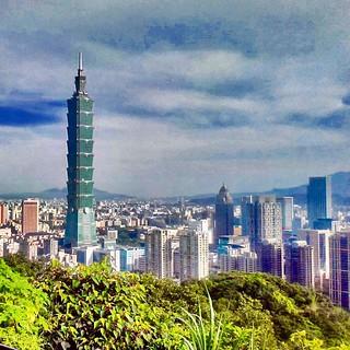Taipei skyline 2014