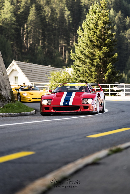 F40LM and F50 on Gotthard Pass