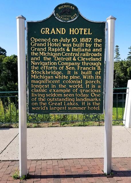 MI, Mackinac Island-Grand Hotel Historical Sign