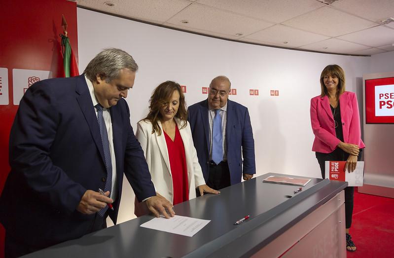Presentación del Grupo Territorial Socialistas Vascos en el Senado