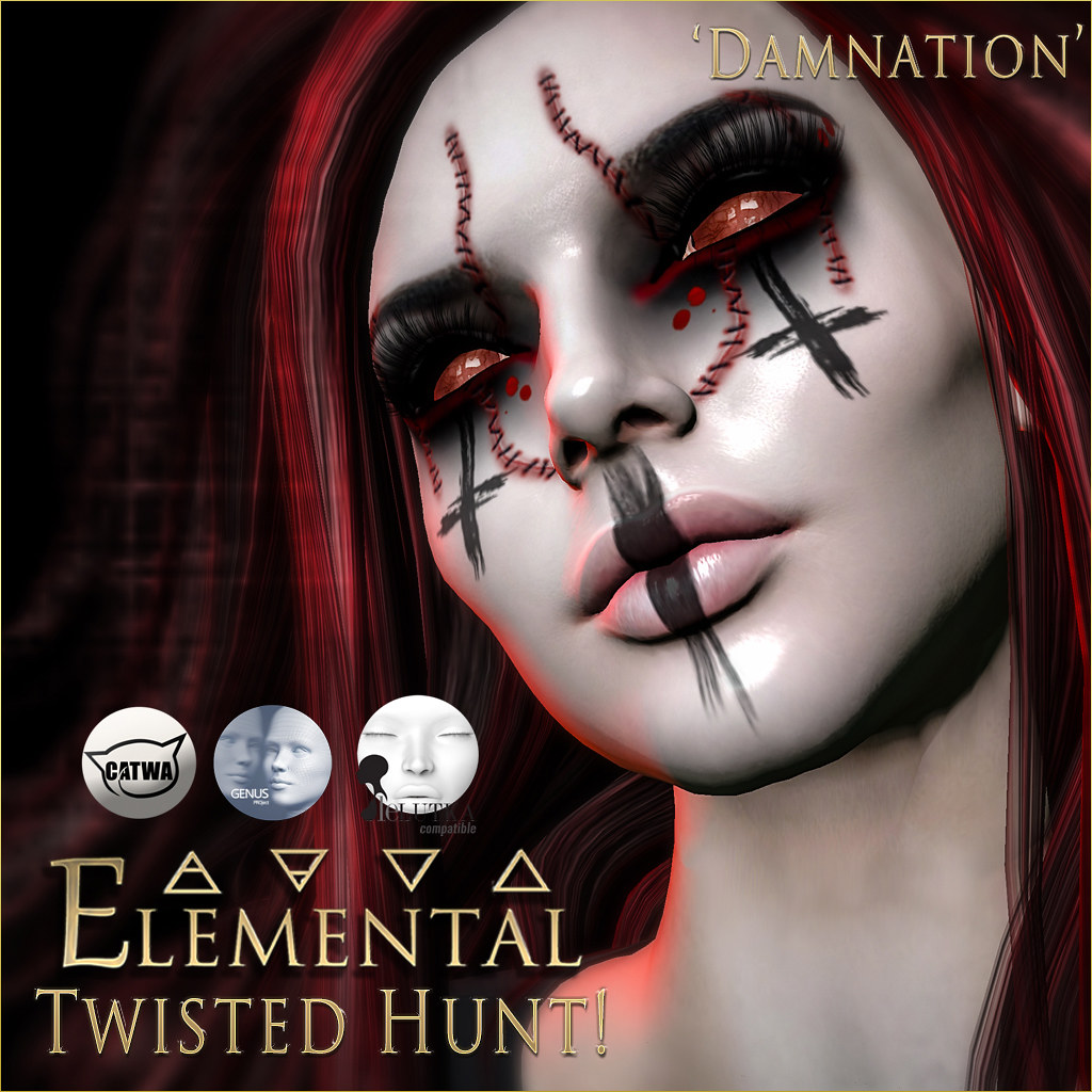 - ELEMENTAL - Damnation Face Make-Up Advert