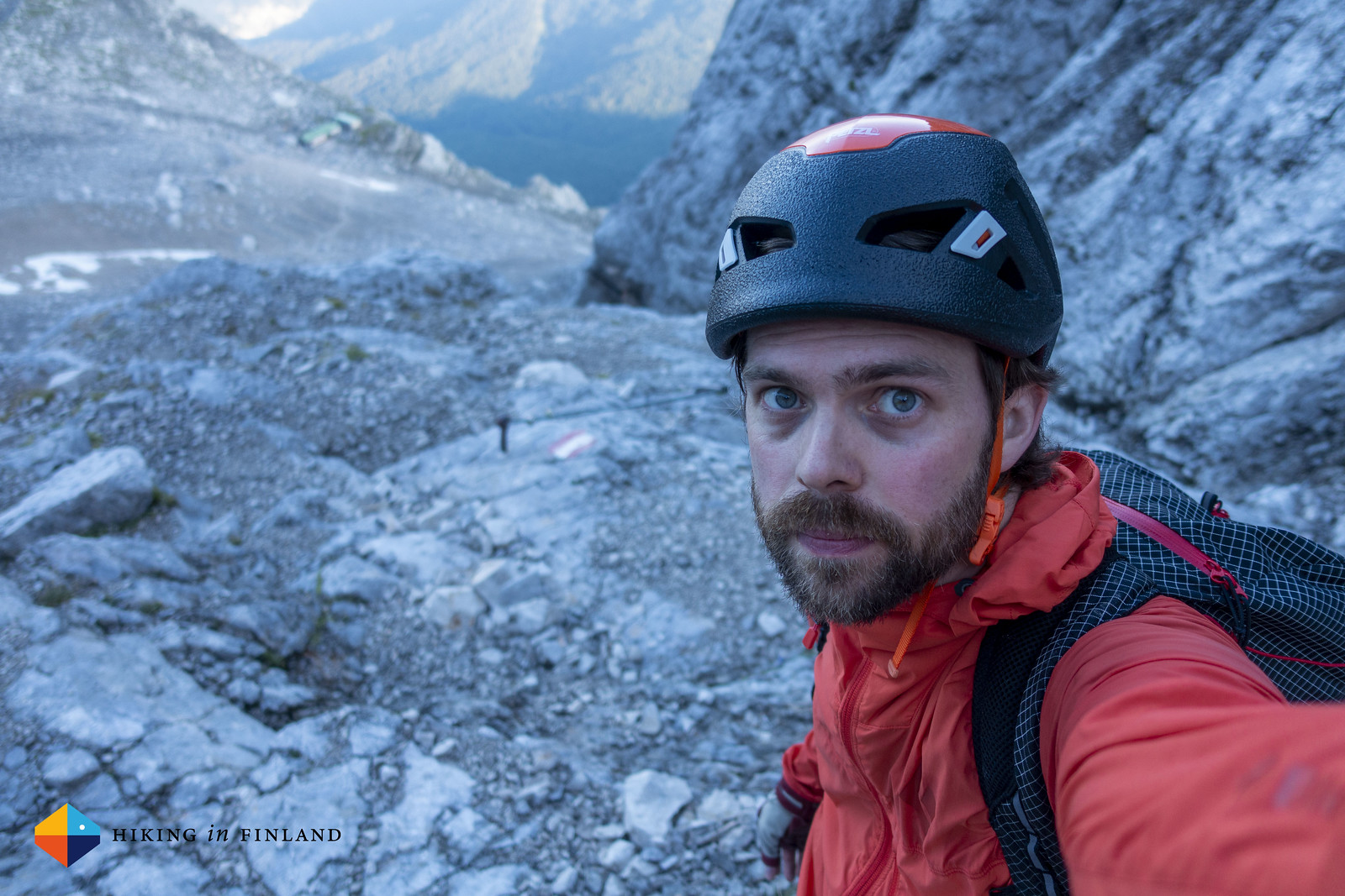 Selfie on the Stopselzieher Via Ferrata