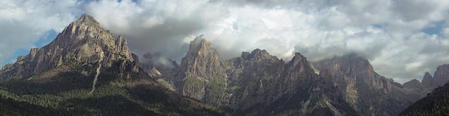 Panorama da Cenguei (Dolomites, Italy)