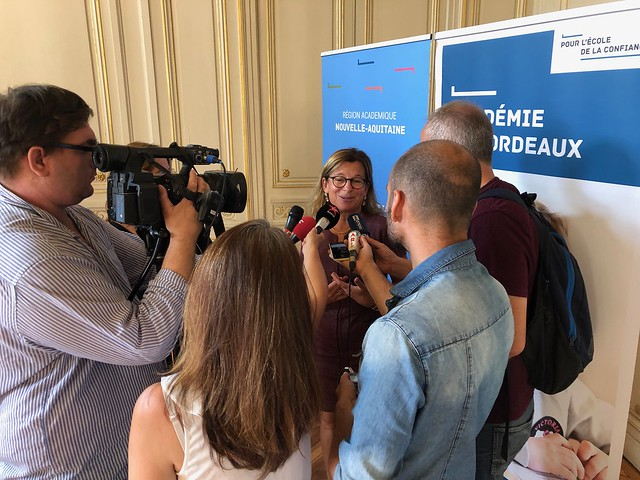 La rectrice présente la rentrée scolaire 2019 à la presse locale