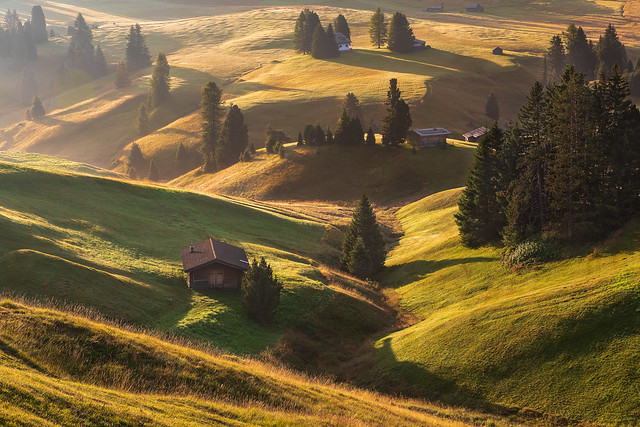 The Alpe di Siusi - Shortly after sunrise