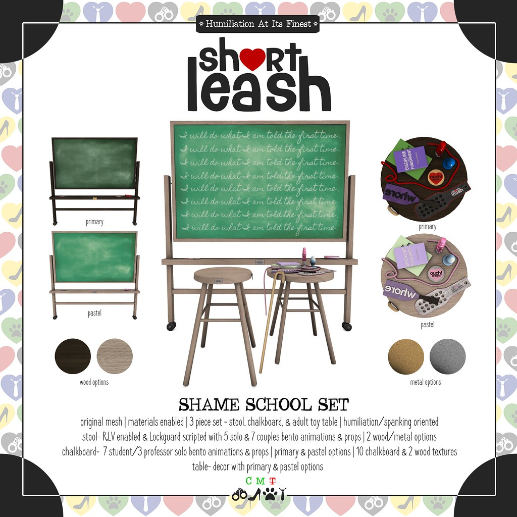 .:Short Leash:. Shame School Set