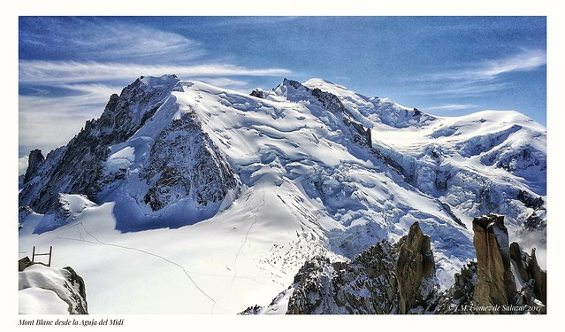 Panorámica del Mont Blanc desde la Aguja del Midi / Overview of Mont Blanc from the Midi Needle