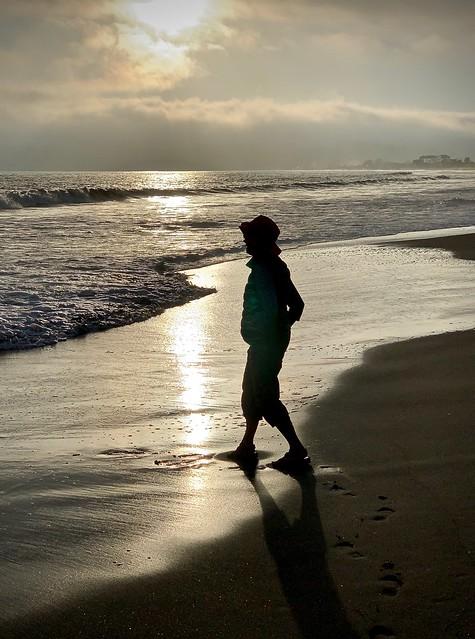 Ann at the beach