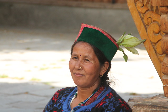 Woman at Shri Badari Narayan Temple, Batseri, Himachal Pradesh