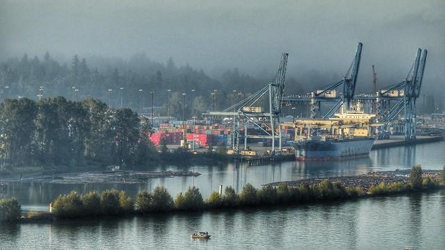 September Morning River Fog