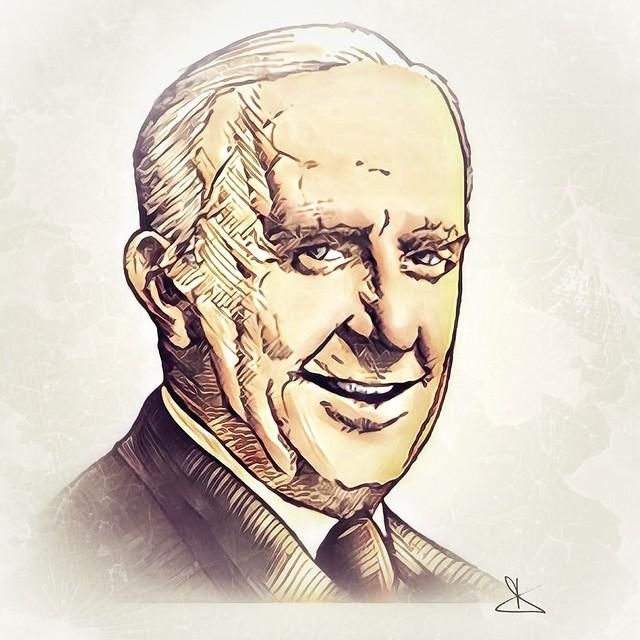 J.R.R.Tolkien - a portrait by Dino Olivieri