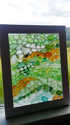 Finished Sea Glass Mosaic