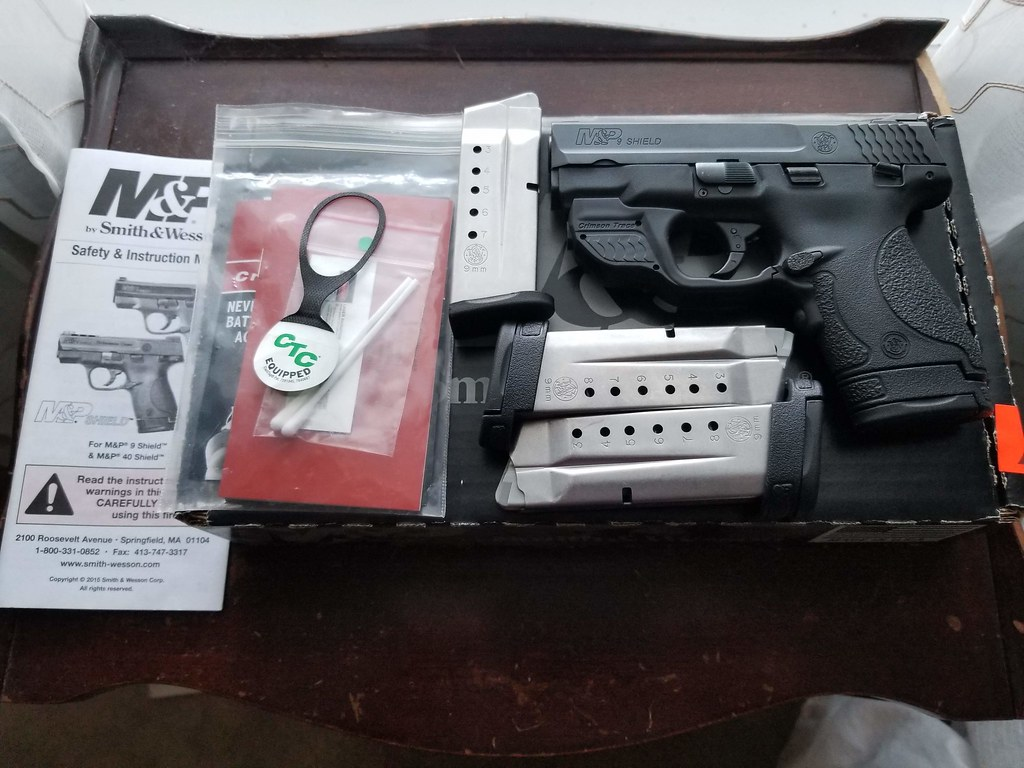 SOLD: S&W Shield 9mm 1 0 w/ CTC