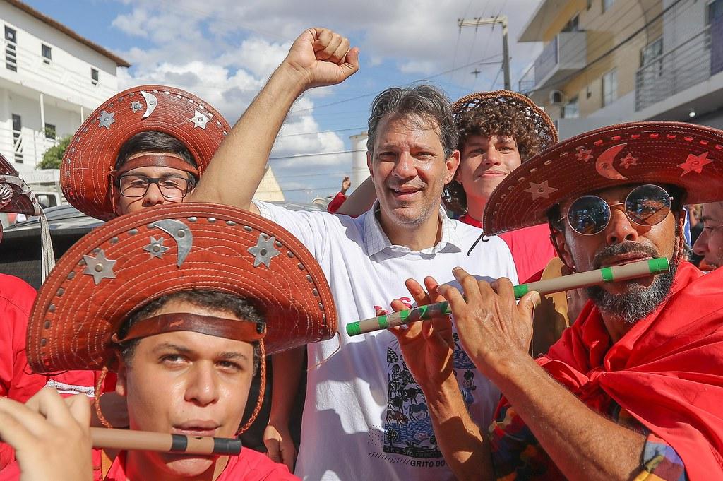 """Encerramento da Caravana Lula Livre no ato """"Grito do Nordeste"""", com Haddad em Monteiro"""