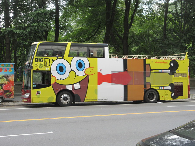 2019 Sponge Bob Bus AD film movie Bus Billboard 9716