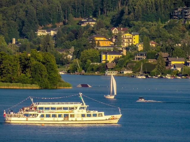 Ferry Boat tour around the Lake Wörth, Carinthia, Austria