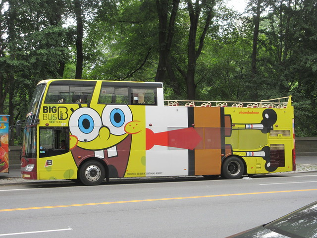 2019 Sponge Bob Bus AD film movie Bus Billboard 9717