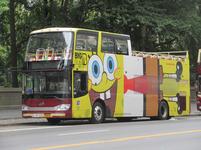 2019 Sponge Bob Bus AD film movie Bus Billboard 9715