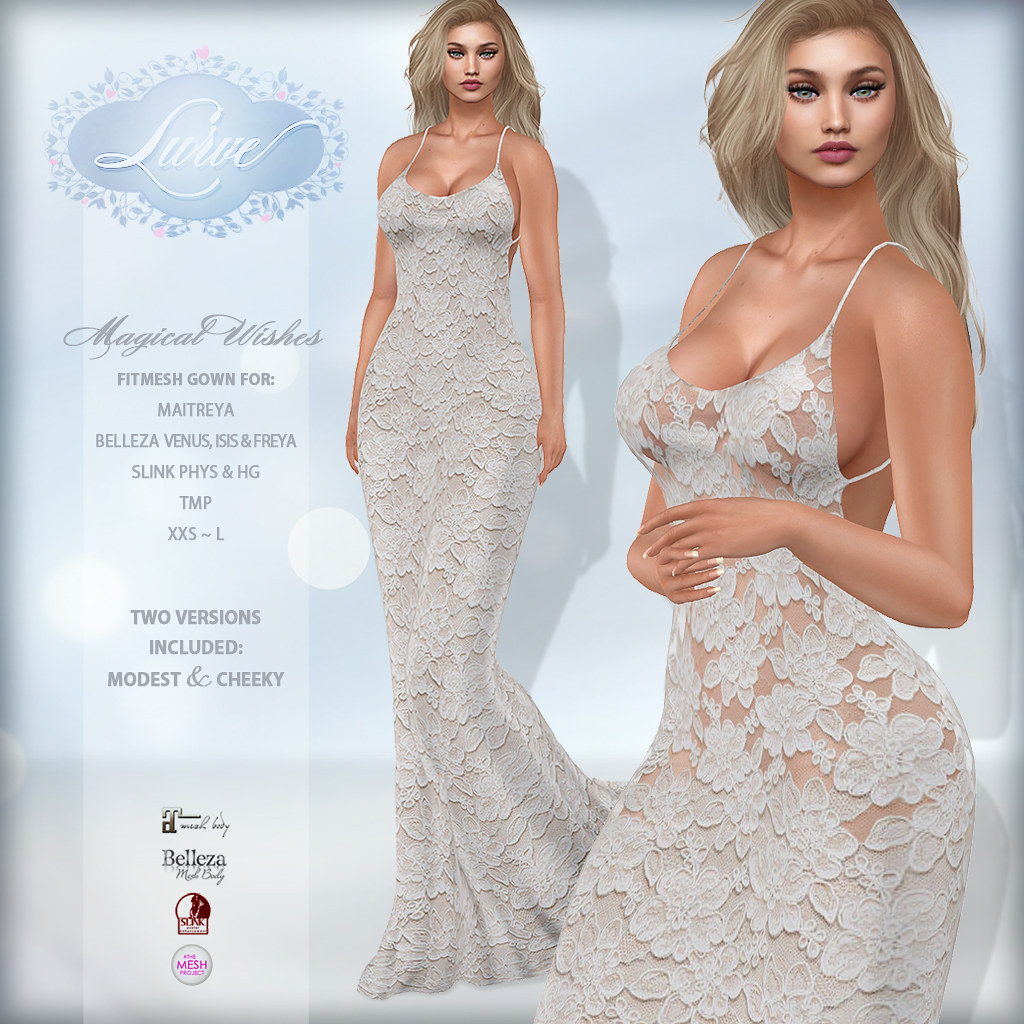 *Lurve* Magical Wishes Formal in Wedding White - TeleportHub.com Live!