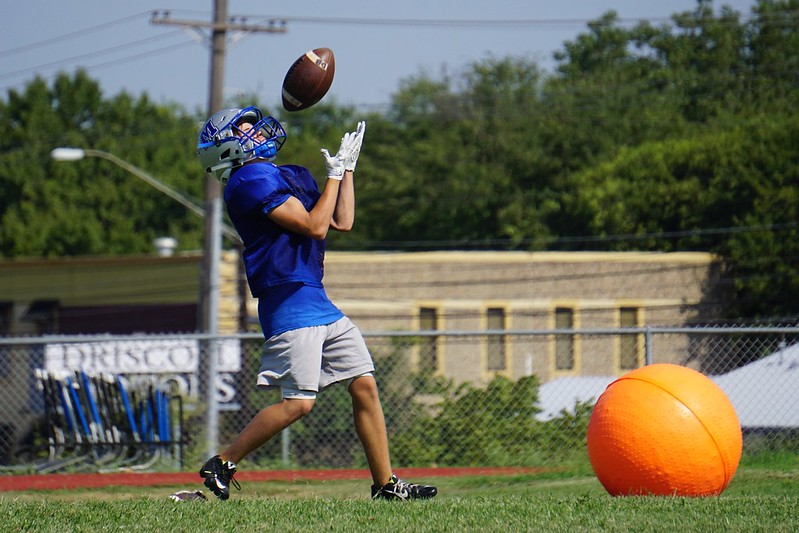 Labor Day Football Practice Caleb Melville
