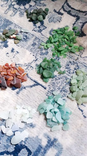 Organizing Sea Glass By Color