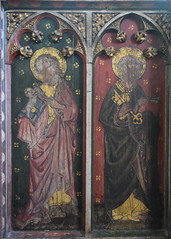 roodscreen: St John the Baptist and St Peter (15th Century)