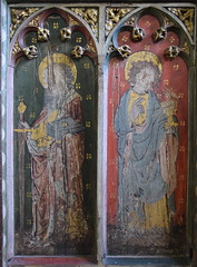 roodscreen: St Paul and St John (15th Century)