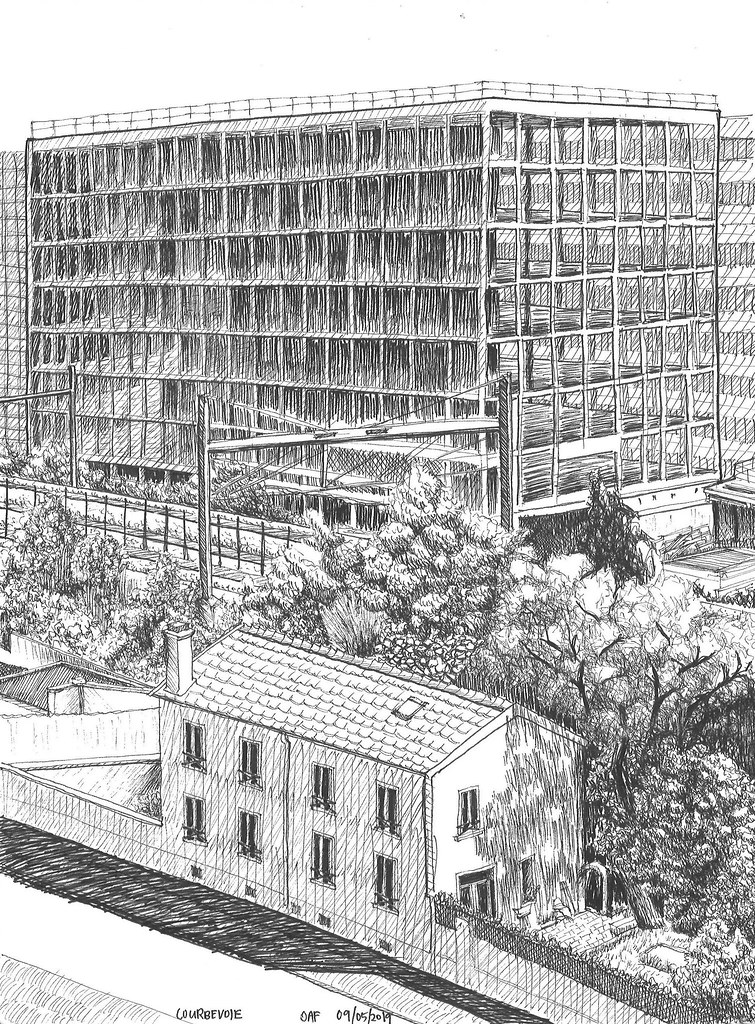 Immeuble en chantier, Courbevoie