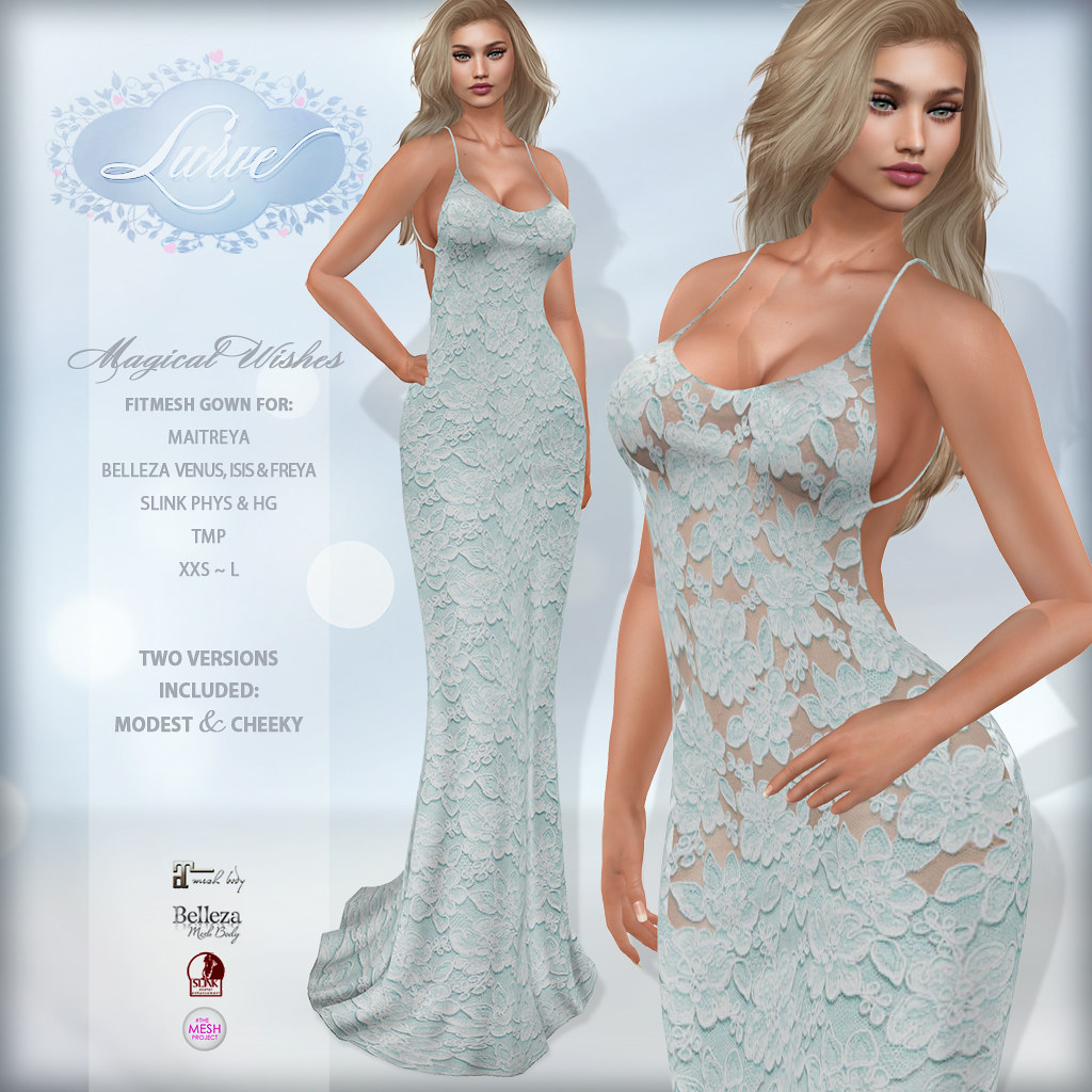 *Lurve* Magical Wishes Formal in Teal - TeleportHub.com Live!