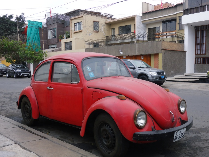 Classic Red Beetle Car