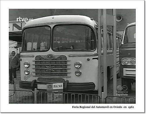 autobús Nazar amb motor Henschel Fira Oviedo 1962