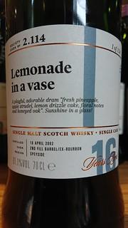 SMWS 2.114 - Lemonade in a vase