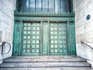 Entrance to Martins bank building