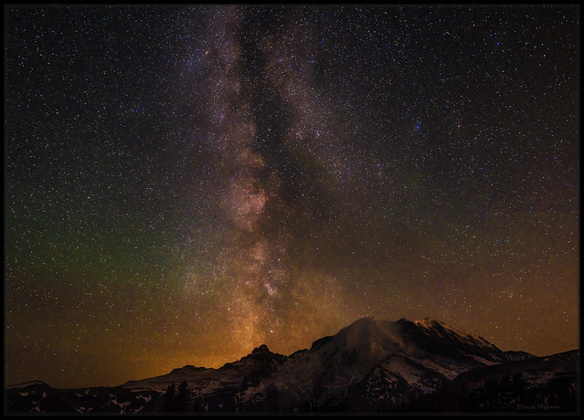 Milky Way and Air Glow