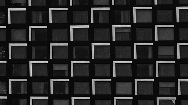 the black and white building (In Explore)