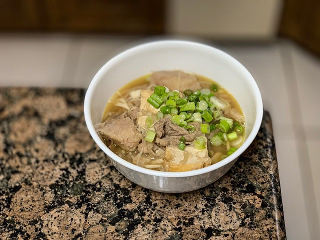 Rice Noodle Soup with Taros