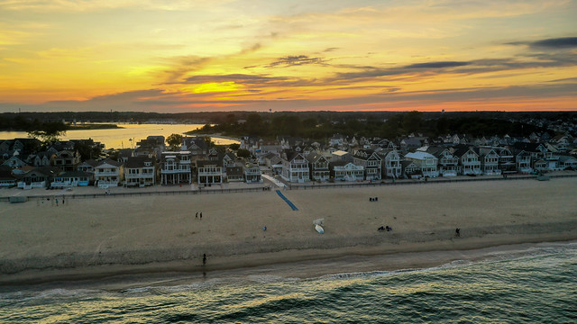 The sun sets over Manasquan, captured by a DJI Mavic 2 Pro drone (8/31/2019).