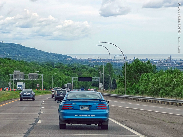 I-35 down the hill to Duluth, 16 July 2019