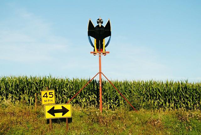 Farm sculpture near Monroe, Wisconsin
