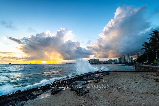 Sunset Waikiki Hawaii
