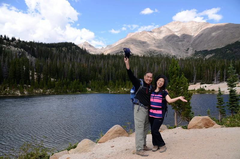 Taken from Sandbeach Lake, background are Pagoda(L)、Longs Peak(M) & Meeker Mt (17)